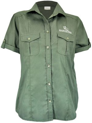 STOCK - LADIES BUSH SHIRT WITH ROLL UP SLEEVE SS