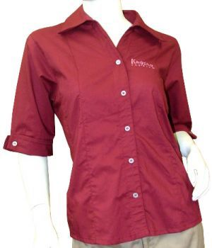 LADIES SHAPED 3/4 DETAILED SLEEVE SHIRT