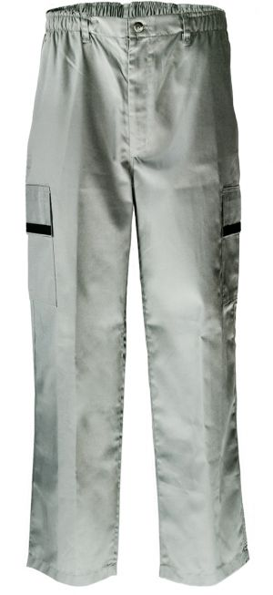 MENS HALF ELASTICATED PANTS - FRONT FLY