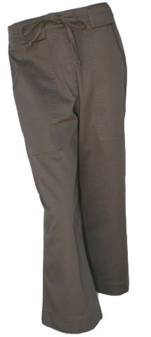 LADIES DRAWSTRING CAPRI PANTS