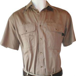 RANGERS BUSH SHIRT SS WITH DIAMOND YOKE STITCHING