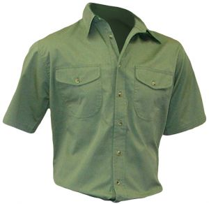 MENS CASUAL 2 FLAP PKT SHIRT SS
