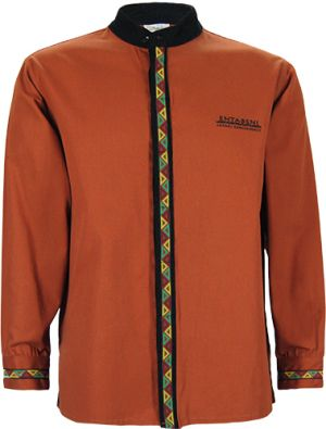 MENS MANDARIN COLLAR SHIRT LS