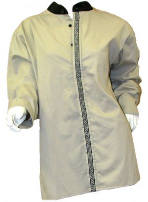 LADIES SHIRT BUTTON UP NECKLINE LS