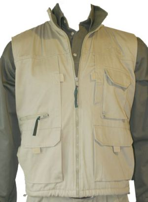 MENS DELUXE SLEEVELESS JACKET, PF LINED