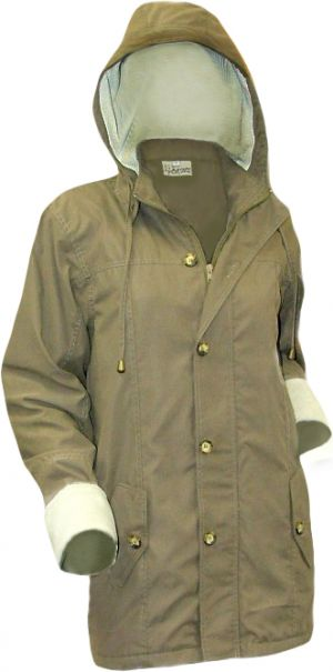 LADIES PARKA JACKET WITH PF TRIM