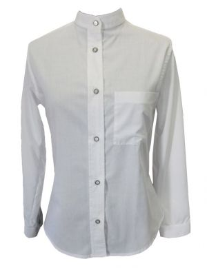 LADIES MANDARIN COLLAR LS SHIRT