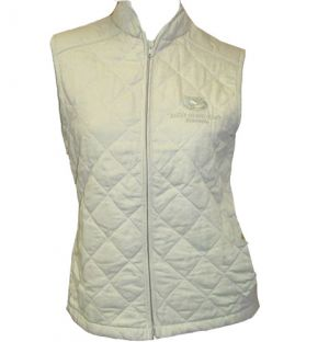 LADIES QUILTED S/LESS JACKET