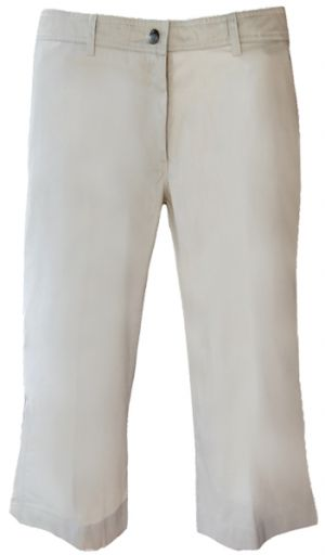 LADIES FLAT FRONT LOW RISE CAPRI PANTS