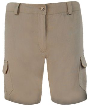 LADIES CARGO LOW RISE FLAT FRONT SHORTS