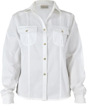 LADIES DETAILED BUSH SHIRT LS