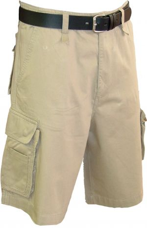 MENS MULTI POCKET CARGO SHORTS - FLAT FRONT