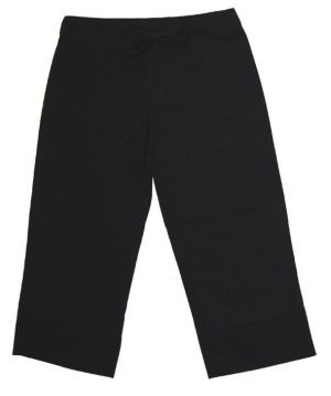 LADIES DRAWSTRING CAPRI PANTS WITH LEG DETAIL