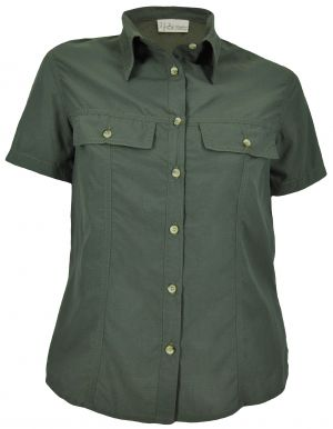 LDS 2 FLAP POCKET SHIRT SS