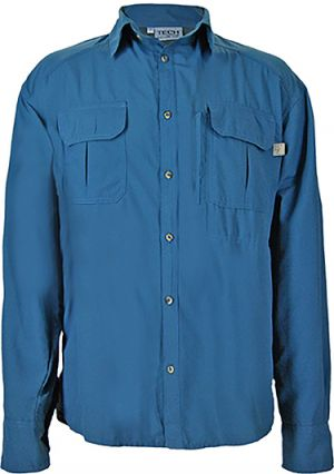 MENS LS SHIRT, CHEST PASSPORT ZIP PKT