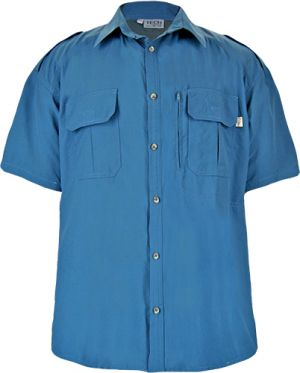 MENS SS SHIRT, CHEST PASSPORT ZIP PKT