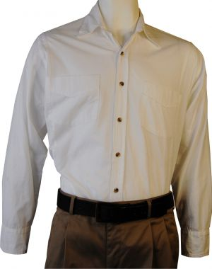 MENS LS LOUNGE SHIRT - COTTON RANGE