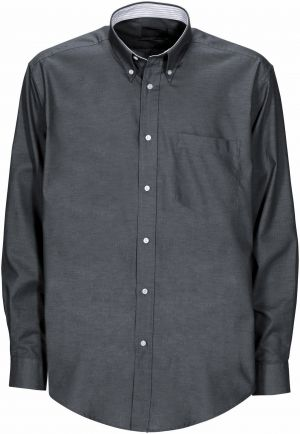 MENS OXFORD LS LOUNGE SHIRT WITH INNER CONTRAST