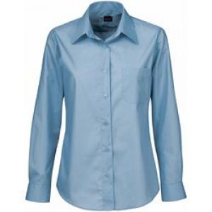 LDS POLYCOTTON POPLIN SHIRT, LS