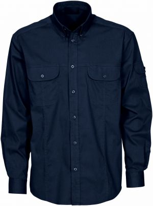 MENS LS COTTON TWILL 2 PKT SHIRT WITH TWO CHEST POCKETS