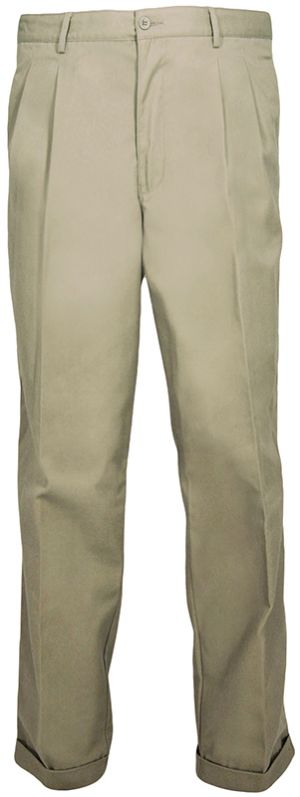 MENS CLASSIC CHINOS - FRONT PLEATS