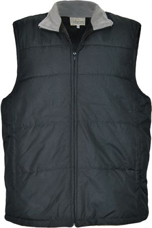 MENS BODY WARMER WITH FRONT SLANT ZIP PKTS