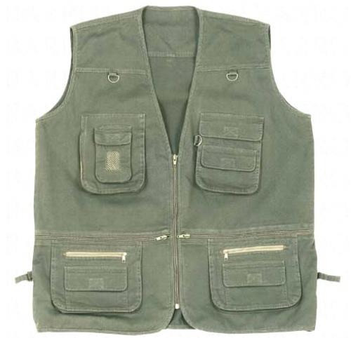 SLEEVELESS MULTI POCKET SAFARI JACKET