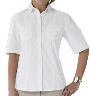 LADIES ROLL-UP SHIRT, SHORT SLEEVES