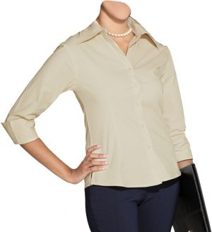 LDS 3/4 SLEEVE BLOUSE