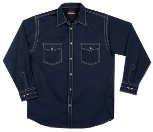 MENS LS TOP STITCH LOUNGE SHIRT