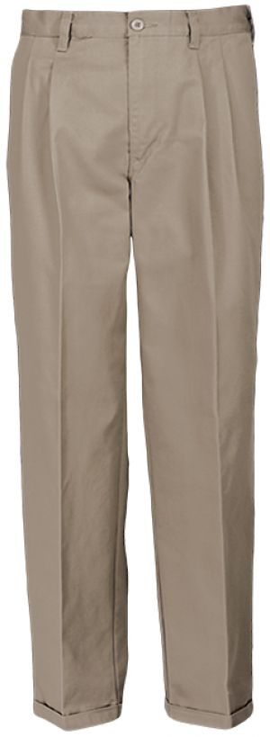 MENS COTTON CHINOS - FRONT PLEATS