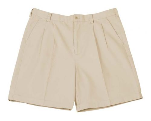 MENS CHINO SHORTS - FRONT PLEATS