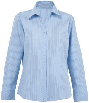 LADIES SUBLE STRIPE LOUNGE SHIRT LS