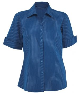 LADIES SUBLE STRIPE LOUNGE SHIRT SS