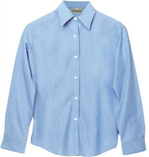 LDS COTTON CHAMBRAY SHIRT, LS