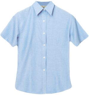 LADIES COTTON CHAMBRAY SS SHIRT