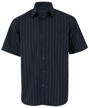 MENS PINSTRIPE LOUNGE SHIRT SS