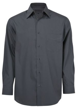 MENS LS TONAL STRIPE CASUAL SHIRT