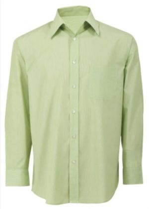MENS LS POLYCOTTON LOUNGE SHIRT WITH STRIPE PATTERN