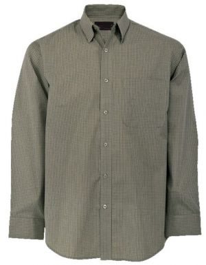 MENS SMALL CHECK LOUNGE SHIRT LS