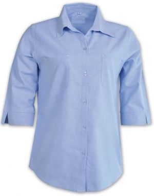 LDS 3/4 SLEEVE COTTON RICH CHAMBRAY SHIRT