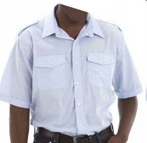 MENS SS PILOT SHIRT WITH FRONT PKTS & EPAULETTES