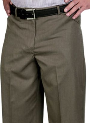 MENS FLAT FRONT LONG LENGTH TROUSERS