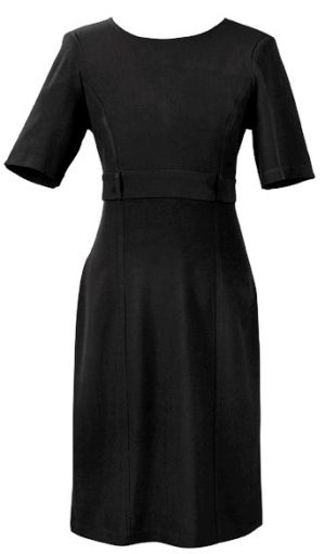 LADIES SS DRESS WITH SELF FABRIC WAIST TIE