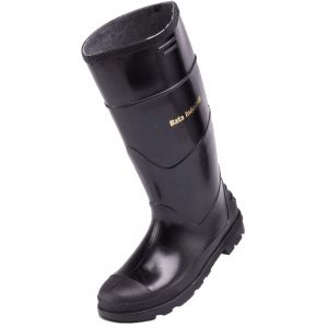 MENS BLACK GUMBOOT - NSTC