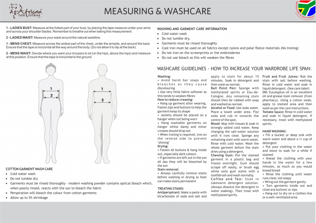 CORE MEASURING AND WASHCARE APRIL 2019