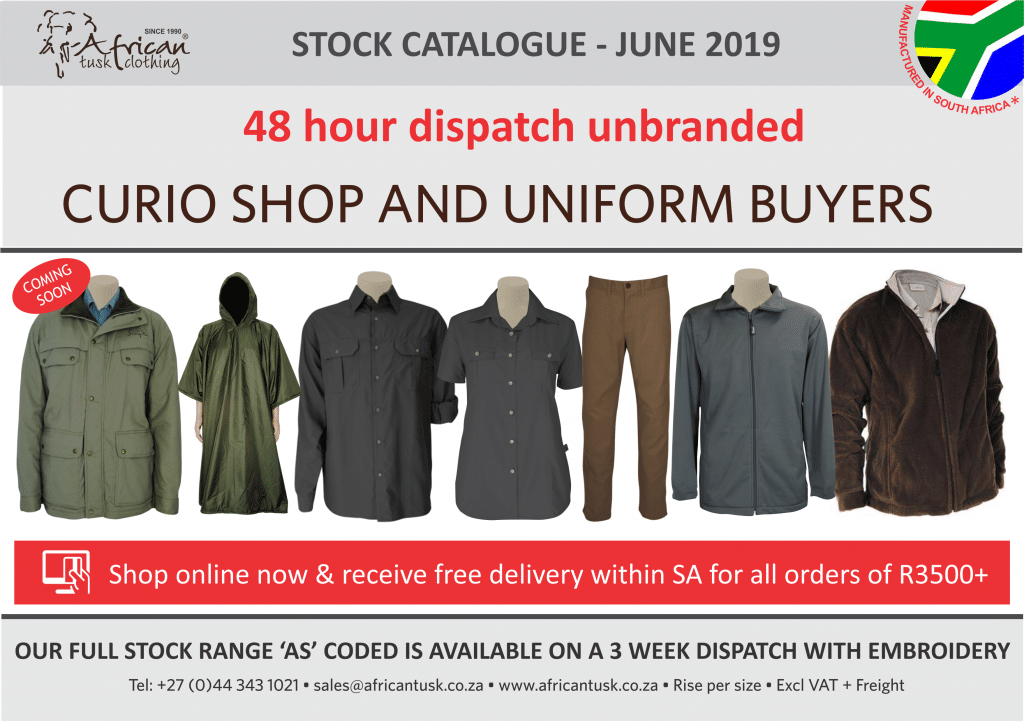 Stock Catalogue - June 2019 Front page