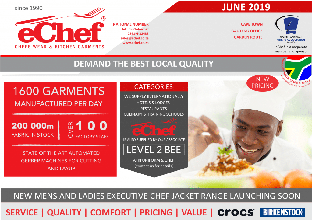 eChef Catalogue June 2019 Front Page