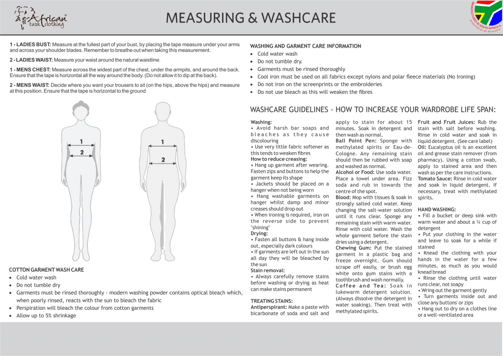 MEASURING AND WASHCARE